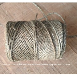 Sisal rope coil dyed green