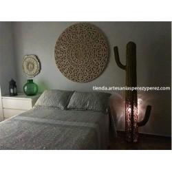 Cactus lámpara de esparto