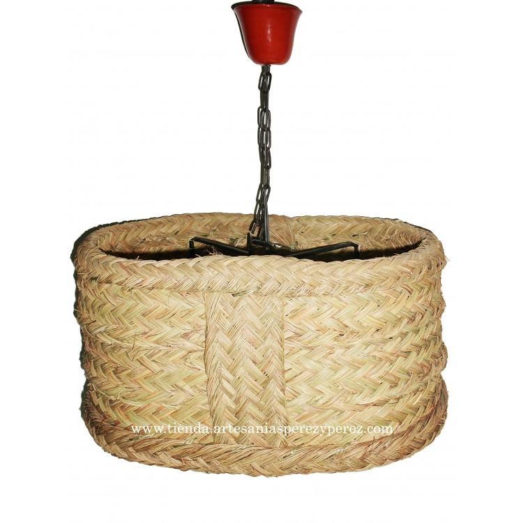 Lámpara ovalada de esparto