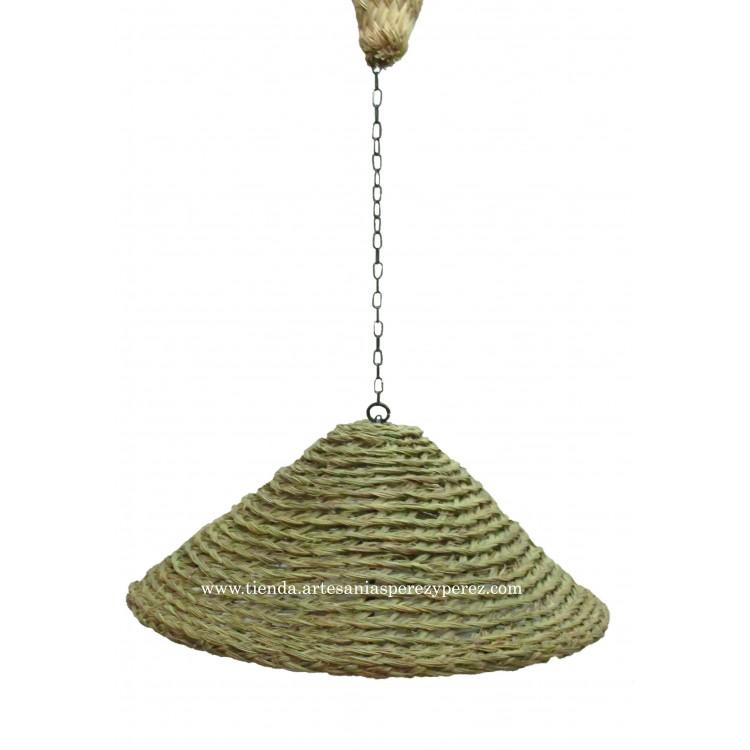 Lámpara oriental de esparto natural