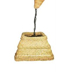 Lampara piramidal de esparto natural