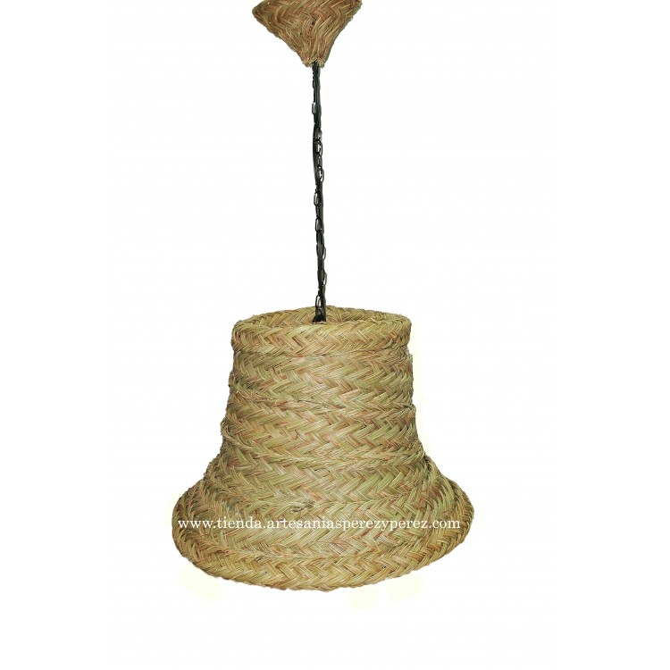 Lámpara campana de esparto
