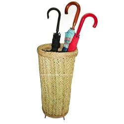 Porta guarda-chuva esparto natural e estrutura de forjamento