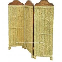 Painel de privacidade feita de madeira maciça e esparto natural