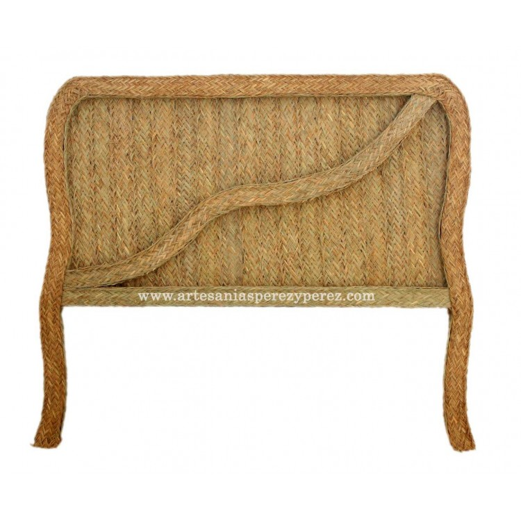 Headboard with relief of esparto with legs