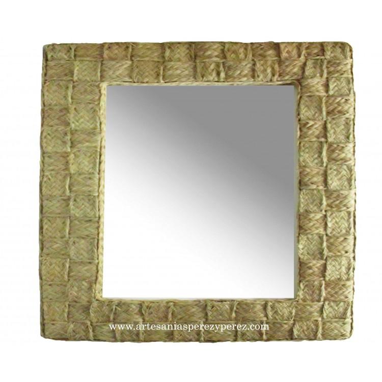 Espejo entrelazado cuadrado