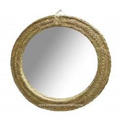 Round esparto mirror