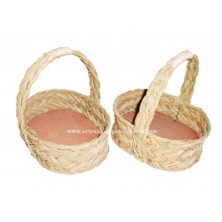 Mini baskets of natural esparto