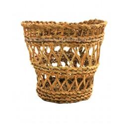 Round esparto wastepaper open basket
