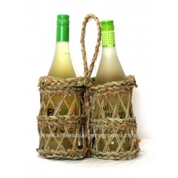 Bottle rack for two bottles (Braided)
