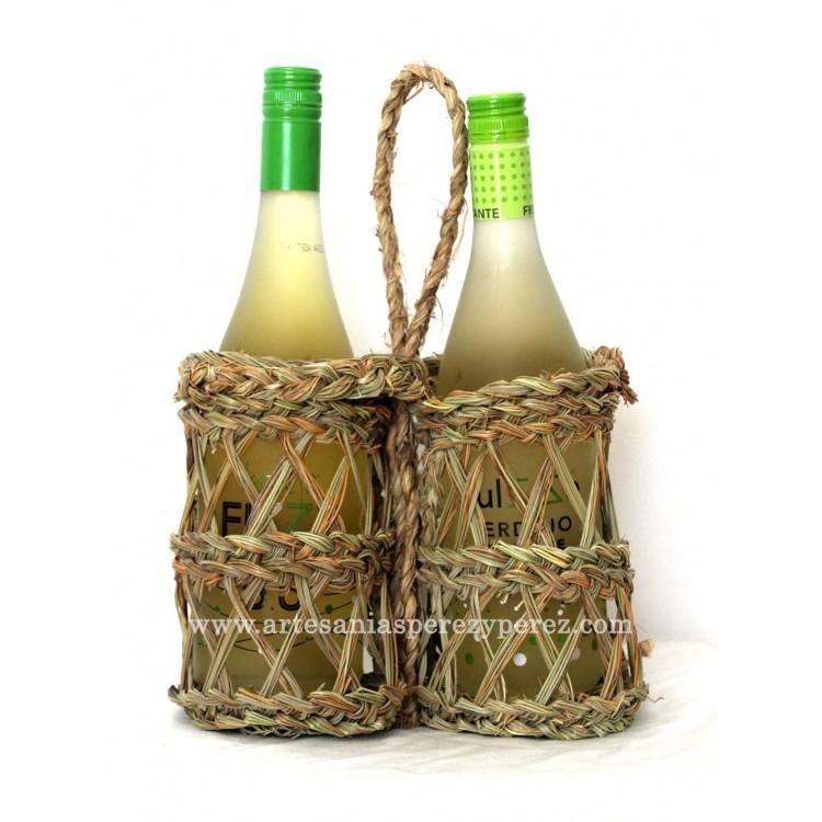 Macetero calado 2 botellas
