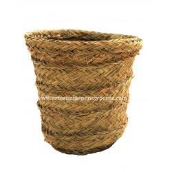 Round esparto wastepaper basket
