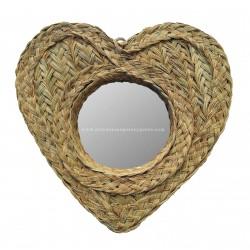 Miroir rond en forme de cœur