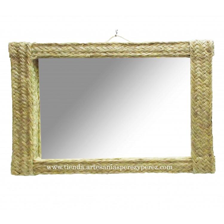 Espejo rectangular horizontal 1 pleita