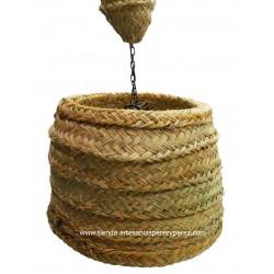 Lámpara cono de esparto natural