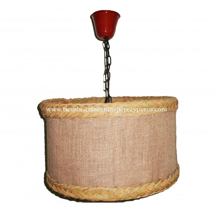 Lámpara redonda esparto y yute