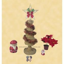 Árbol de navidad en esparto natural mini