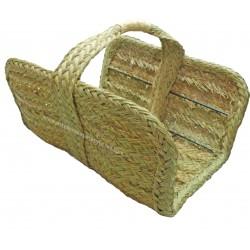 Natural esparto firewood basket tile model