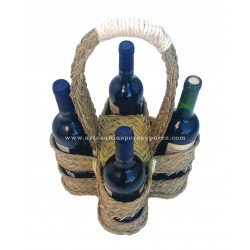 Garrafeira para quatro garrafas