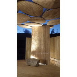 Innovation avec l'sparte naturel au Musée du Forum Romain de Carthagène (Murcie)