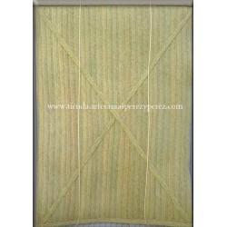 Cortinas de enrolar de esparto natural costurado trançado