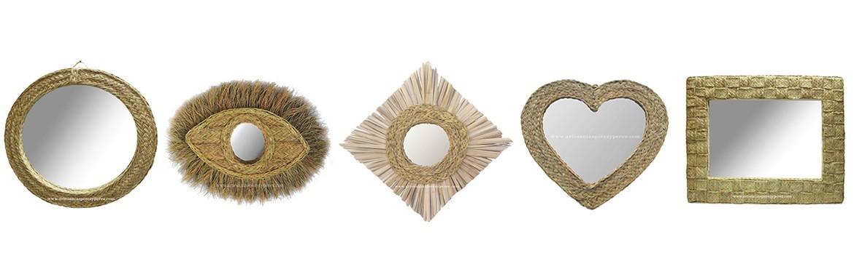 Espejos de esparto natural ideales para decorar cualquier espacio