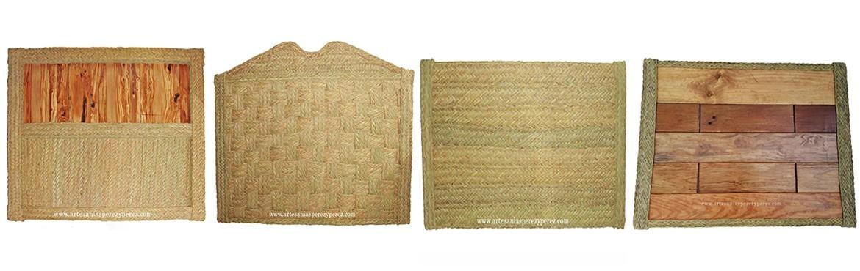Cabeceros de cama fabricados de esparto natural