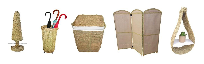 Muebles fabricados con encanto empleando materiales 100% naturales